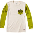 Vans Gnarpalm Mens T-shirt Long Sleeve - Creme Amber Green All Sizes