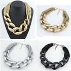 Fashion Hollow Chunky Statement Charm Chain Necklace Women Jewelry