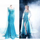 Elegant Elsa Ice Queen Women Dress Skirt Cosplay Costume Fancy Dresses