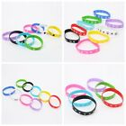 10pcs Strap Mixed Colour Silicone Printed Sport Wristband  Bracelet Hand Ring BS