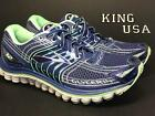 Women's Brooks Glycerin 12 Blue Running Cross Training Athletic - Wide