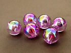 10mm 40/100/../300pcs IRIDESCENT ORCHID ACRYLIC PLASTIC ROUND BEADS TY2398