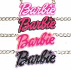 Large BARBIE Necklace - HOT PINK or BABY PINK - UK Free 1st Class P&P
