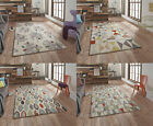 Fiona Howard Designer Rug Wool Blend Large Modern Retro Pattern Hand Tufted Mat