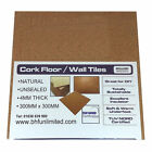 Natural Cork Tiles for Floor / Wall / DIY 300x300mm ( 4mm thick)