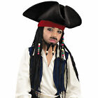 Jack Sparrow Deluxe Hat W Beaded Braids Child FREE USA SHIPPING 18423