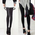 Stylish Womens Solid Blacks Leggings Must-have Pencil Pants Warmer Trouser 4845