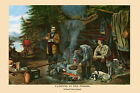 Camping in the Woods Good Time by Currier & Ives Vintage Poster Repro FREE S/H