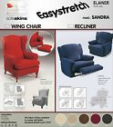 SANDRA WING CHAIR RECLINER STRETCH ELASTIC SLIP OVER COVERS
