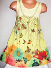 GIRLS YELLOW GARDEN FLOWER BUTTERFLY PRINT CHIFFON PARTY DRESS with NECKLACE