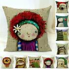 Home Decor Cotton Linen Pillow Case Sofa Waist Throw Cushion Cover 18 Patterns