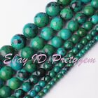 "Round DYE Multicolor Chrysocolla Gemstone Beads Loose Strand 15"" 4,6,8,10,12mm"
