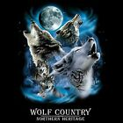 Big Wolf Country In Your Face Dress Nightshirt Coverup Pick Your Size
