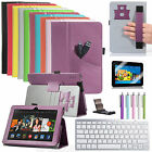 Bluetooth Wireless Keyboard +Pocket PU Leather Case Stand for Kindle Fire HDX 7""