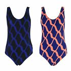 J110 LADIES RETRO URBAN ETHIC DESIGN SWIMWEAR SWIMMING COSTUME SWIM SUIT 10-16