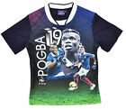 Boys Official Paul Pogba No19 France Football T-Shirt Top Tee 4 to 10 Years NEW