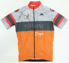 Portland Oregon CYCLING SHORT SLEEVE JERSEY in Orange. Made in Italy by GSG
