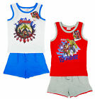 Boys Marvel Avengers Ultron Hulk Iron Man Vest Top & Shorts Set 4 - 10 Years NEW