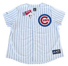 Chicago Cubs Majestic MLB Women's Plus Sizes Pinstripe Home Replica Jersey-NWT