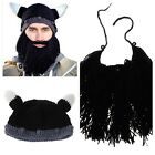 Men Child Kids Knitted Crochet Beanie Viking Party Costume Halloween Hat Cap Z