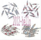 Wholesale 10pcs Tibet silver Feather Charm Pendant beaded Jewelry Findings