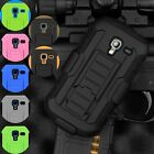 Dual Armor Hybrid Case Cover Belt Clip Holster For Samsung Galaxy Exhibit T599