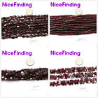 "Garnet Natural Stone Jewelry Making Loose Beads 15""Various Shape"