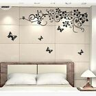 Removable Butterfly Iris Rattan Art Decal Mural Wall Stickers Home Room Decor LG