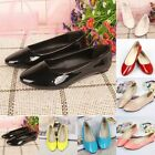 lady flat slip-on slilppers loafers shoes pointes shoes patent candy Pregnant
