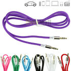 Gold 3.5mm Male to Male Car Aux Auxiliary Cord Stereo Audio Cable for Phone iPod