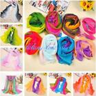 New Fashion Women's Gradient Color Soft Long Chiffon Beach Wrap Stole Scarf - LD