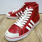Adidas Nizza HI Red Snakeskin Snake White Casual Shoes with discoloration