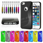 New Gel Silicone TPU Slim Thin Case Cover For Apple iPhone 5 5S Free Protector