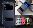 Fashion Protective View Window Flip Stand PU Leather Case Cover Lot Case Cove
