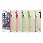 CLEAR Hard Back Silicone TPU Bumper Case Cover For Apple iPhone 6 iPhone 6 Plus