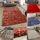 New Very Soft Fluffy Touch Quality Shaggy Rugs In Red Brown Blue Beige Grey