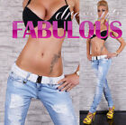 NEW SEXY WOMEN'S DESIGNER HIPSTER RIPPED JEANS DENIM HOT CLUBBING WEAR STRETCH