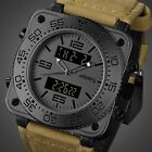 U.S.A INFANTRY Mens Quartz Wrist Watch Dual Time Sport Tactical Army Chronograph