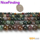 """Indain Agate Faceted Natural Stone Jewelry Craft Making Beads Round 15 """""""