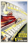 Lottery 1949 Monza Car Automobile Race Grand Prix Vintage Poster Repro FREE S/H