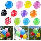 "10, 30, 50 Optional 12"" Polka Dot Latex Balloons Blue Red Pink Green Yellow Rose"