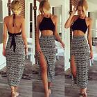 New Womens Crop Top and Skirt Clothing Set Sexy Two-piece Clubwear Bodycon Dress