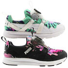Puma Disc Tropicalia Womens Trainers Textile Black White Floral 355925 01 02  D4