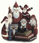 Christmas Folk Art Santa Group Select-A-Size Waterslide Ceramic Decals  Ox image