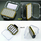 Double Side Foam Fly Fishing Lure Bait Hook Storage Case Tackle Box Waterproof