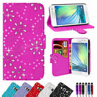 LEATHER FLIP WALLET CASE COVER FOR SAMSUNG GALAXY A3 FREE SCREEN PROTECTOR