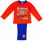 Boy's Official Arsenal FC The Gunners 1886 Long Cotton Pyjamas 4 to 12 Years NEW