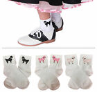 Hip Hop 50s Shop Girls Bobby Socks with Poodle Applique Child Halloween Costume
