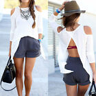 New Women Summer Loose Casual Cotton Sexy Vest Tee Shirt Tops Blouse Ladies Top