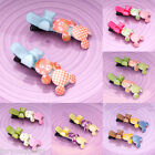 Pair Of Girls Baby Kids Children Hair Accessories Mickey Snaps Hair Clip Slides